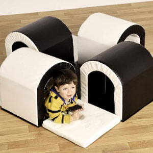 Toddler Tunnel Maze Softplay - Black & White
