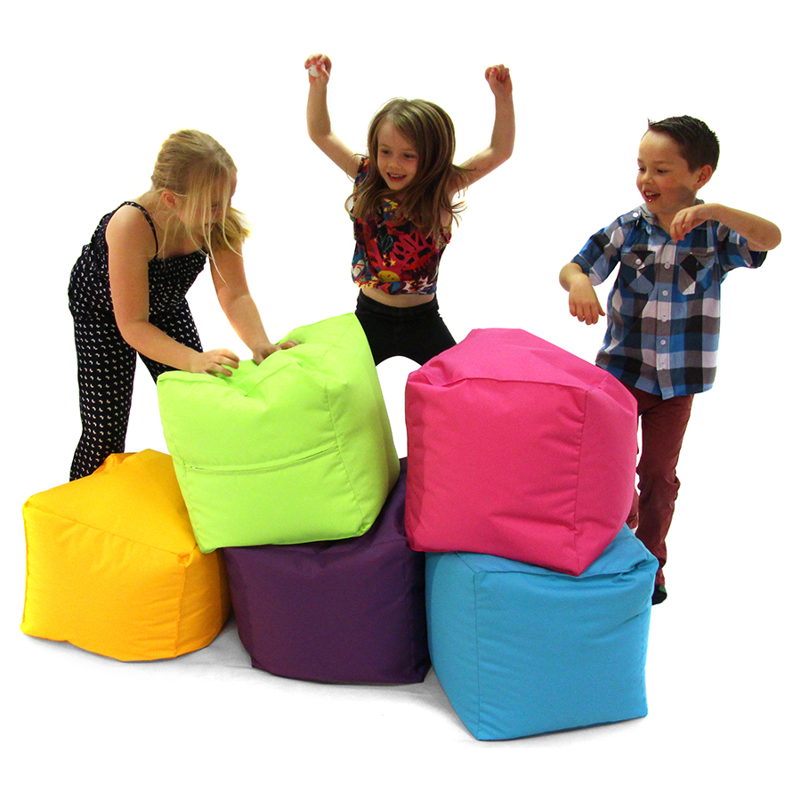 Primary Cube Bean Bag