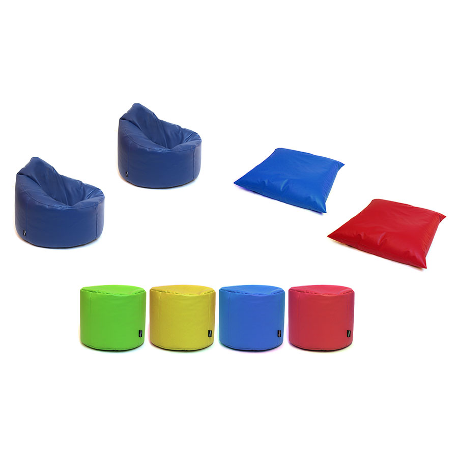 Pre-School & Primary ''Chill-Out'' Classroom Bean Bag Set