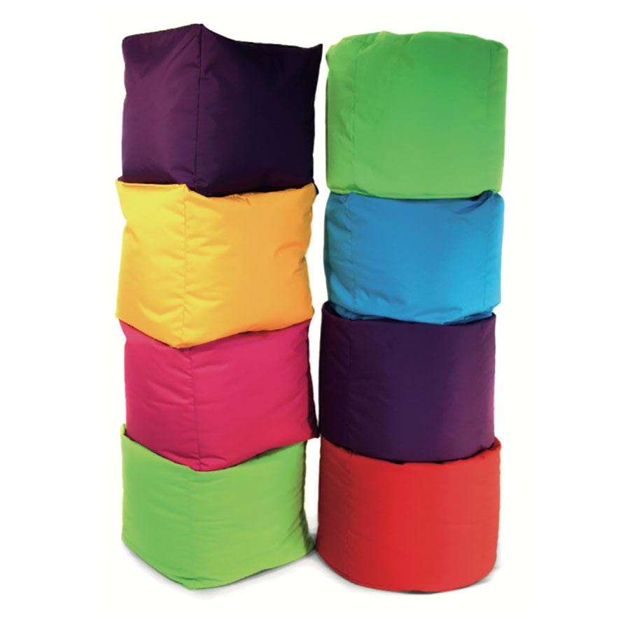 Pre-School & Primary Stacking Classroom Bean Bag Set
