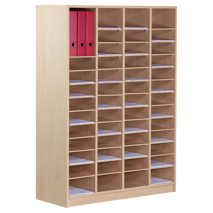 66 Compartment Wooden Pigeon Hole Store (1.4m)