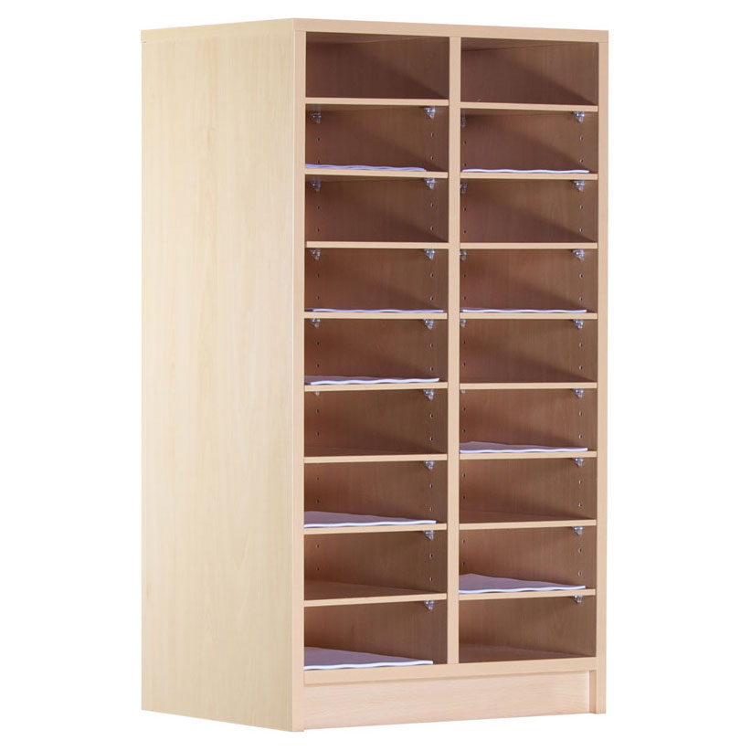 18 Compartment Wooden Pigeon Hole Store (1m)