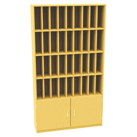 36 Pigeon Hole Post Unit + Cupboard