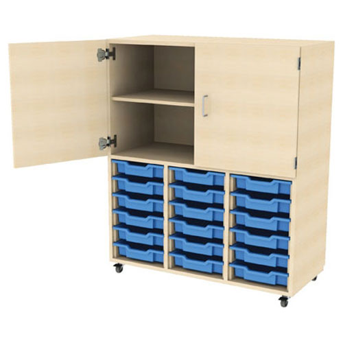 PSU 18 Tray Storage + High Cupboard