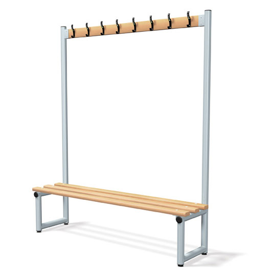Probe Single Sided Cloakroom Hook Bench