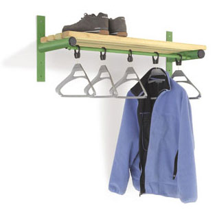Probe Wall Mounted Cloakroom Shelf & Rail