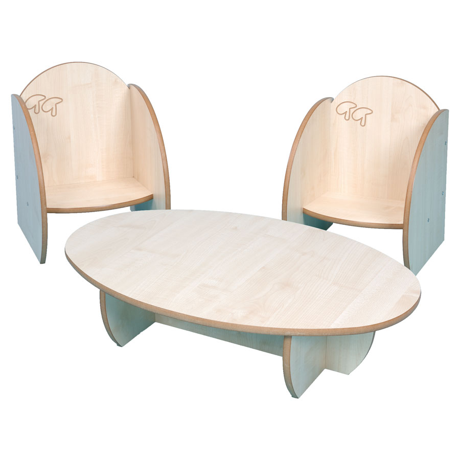 ''Mini'' Children's Small Wooden Table & Chairs
