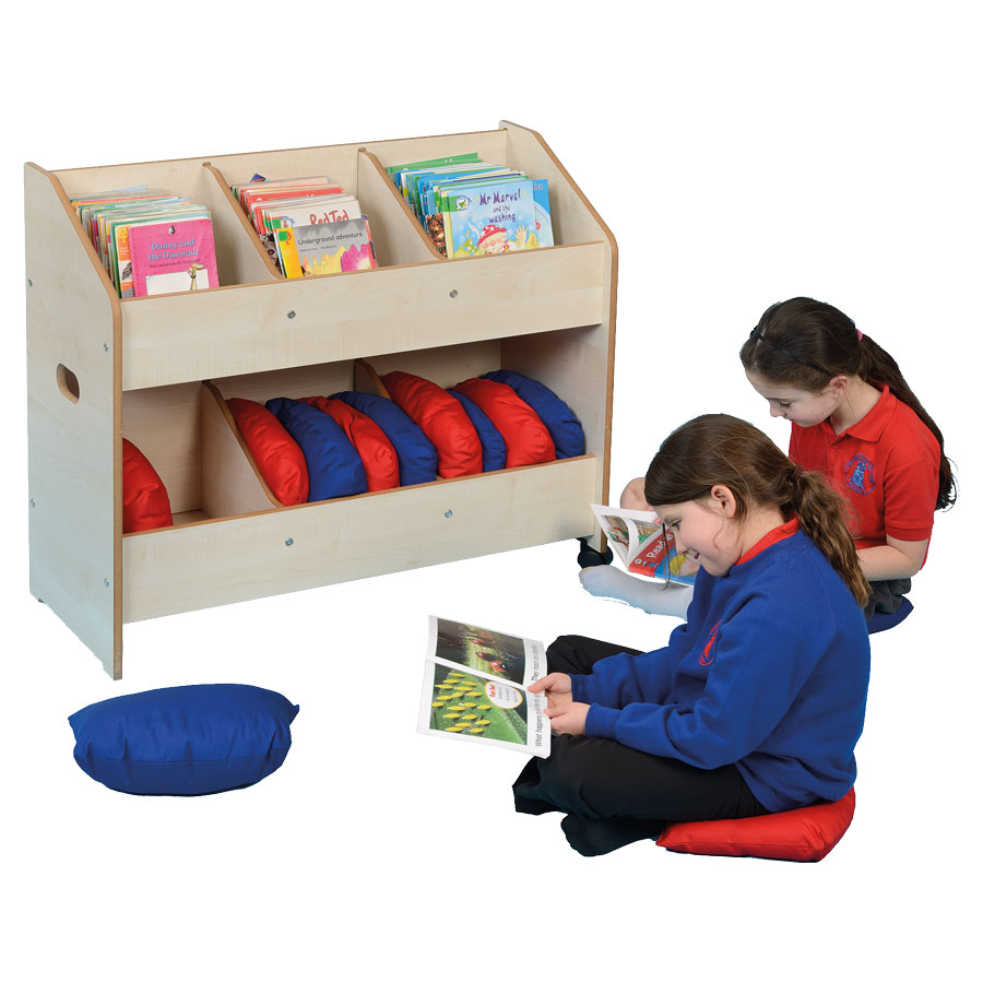 Mobile Classroom Organiser & Book Store + Cushions