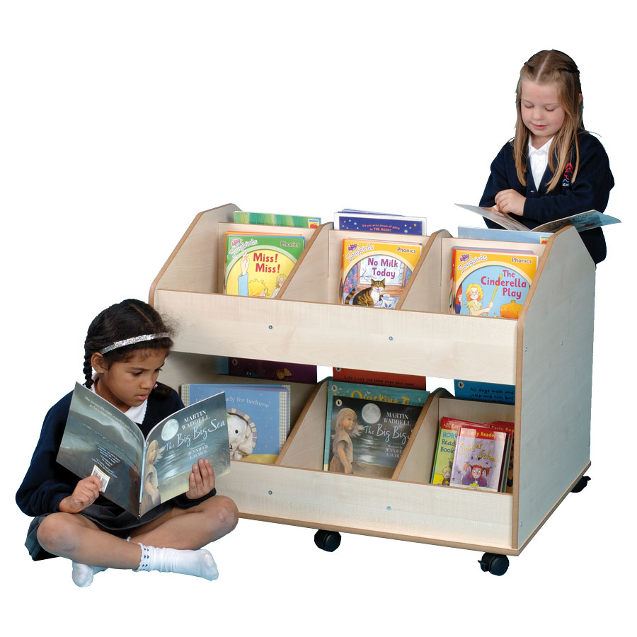 Double-Sided Mobile Classroom Organiser & Book Store