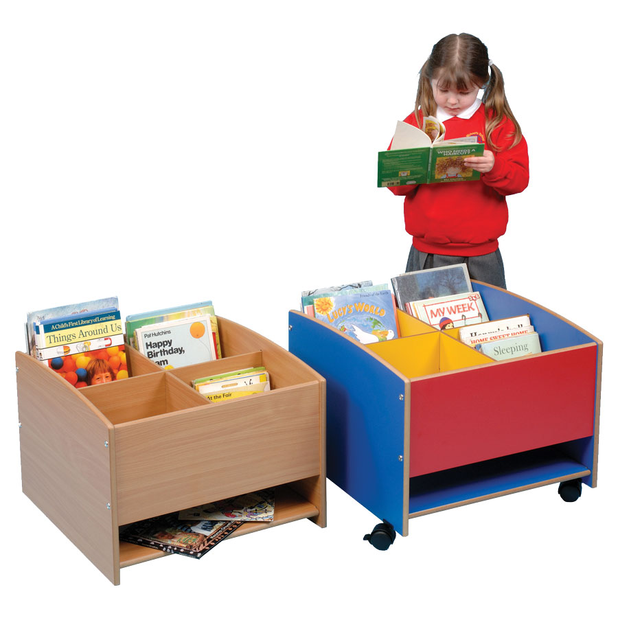 Low Level Four Compartment Kinderbox + Shelf