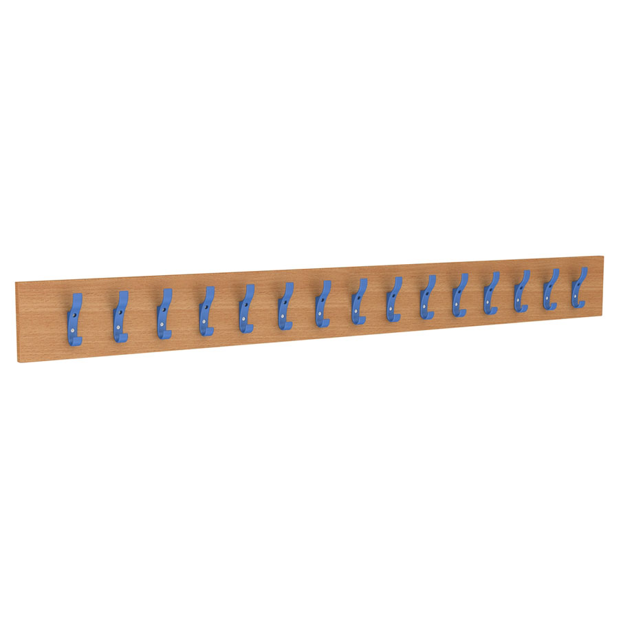 15 Hook Coat Rail - Coloured