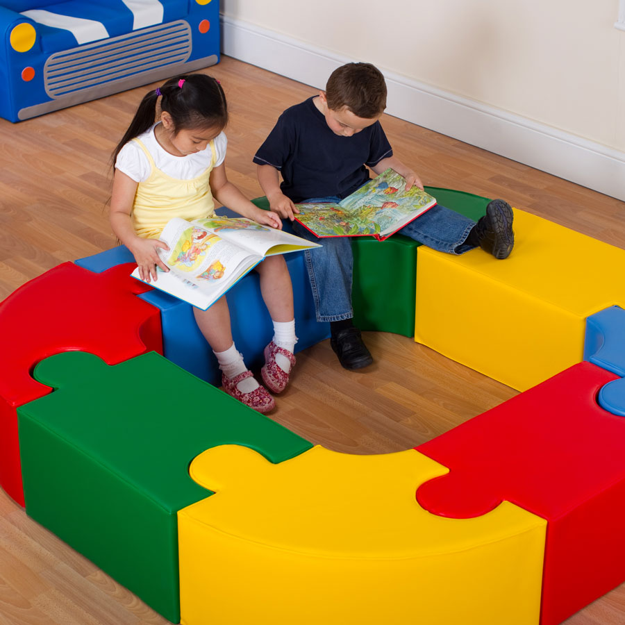 Magic Puzzle Seating Set 3 Primary Colours