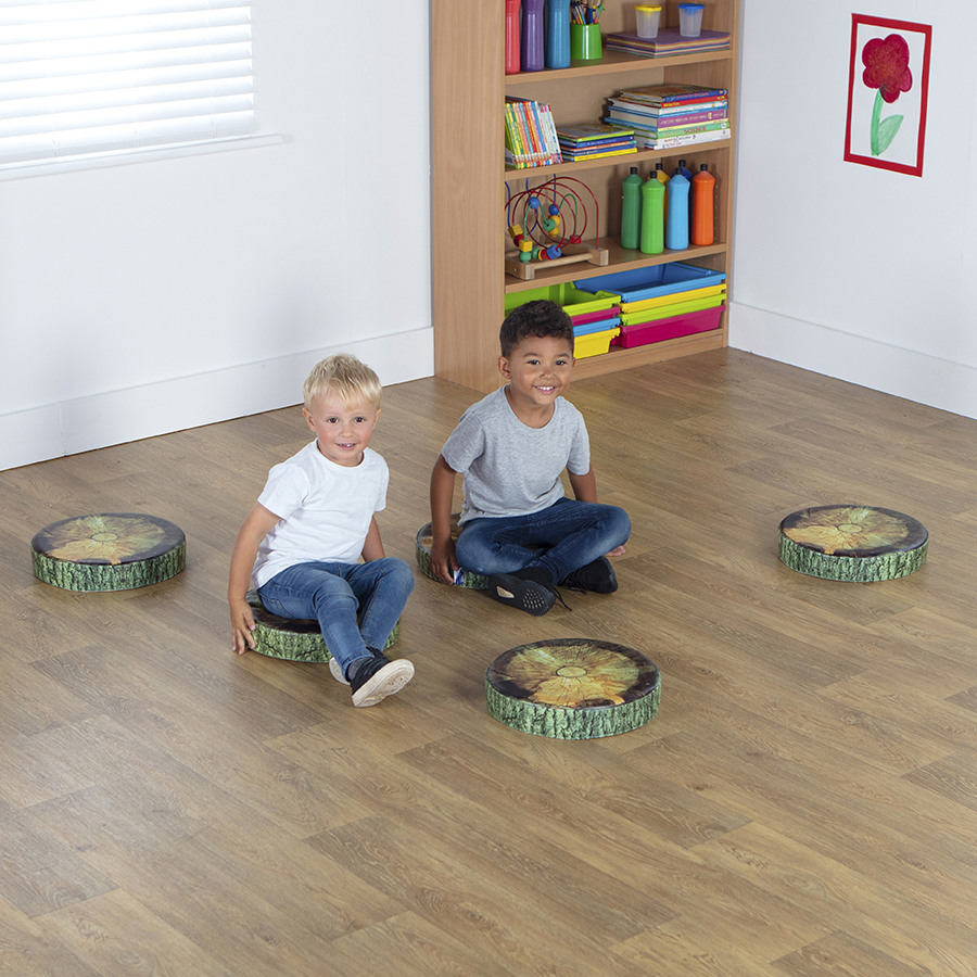 Classroom Woodland Tree Stump Cushions Pack of 5