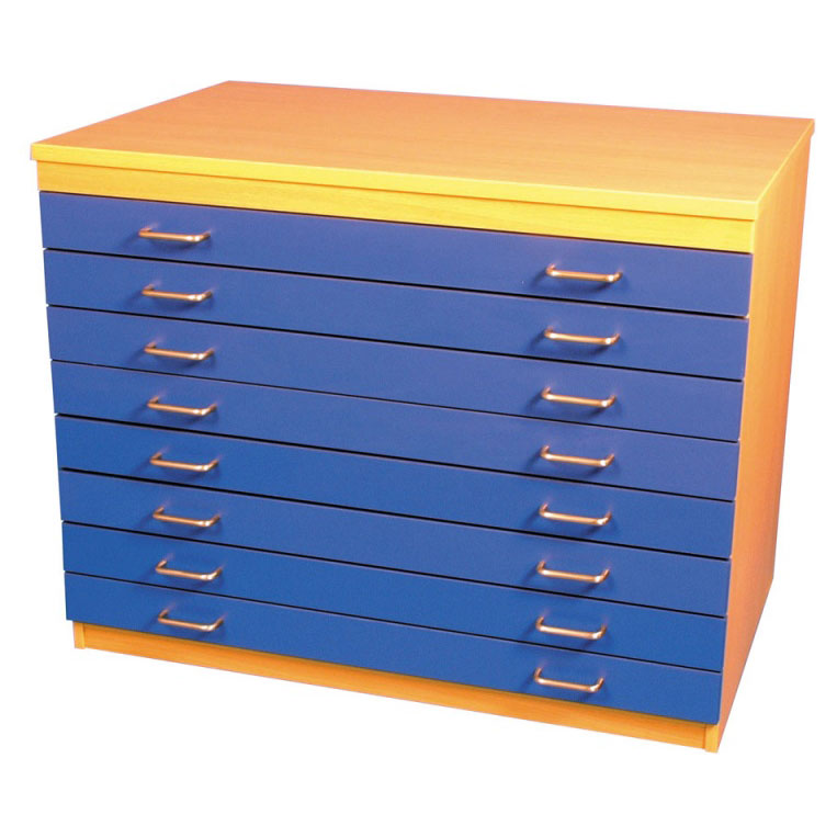 A1 Paper Storage Unit (8 Coloured Drawers)