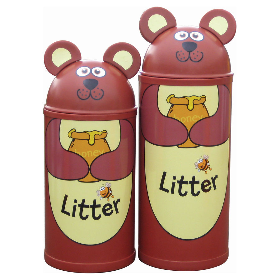 Bear School Litter Bin