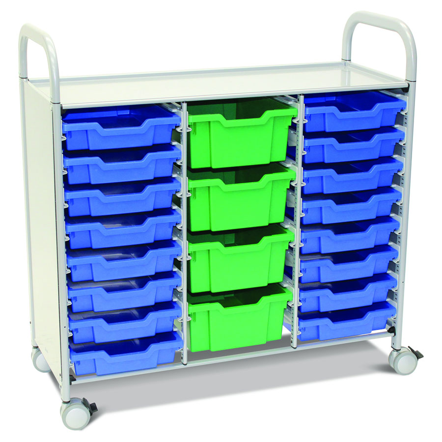 Callero Plus Treble Trolley + 16 Shallow & 4 Deep Trays