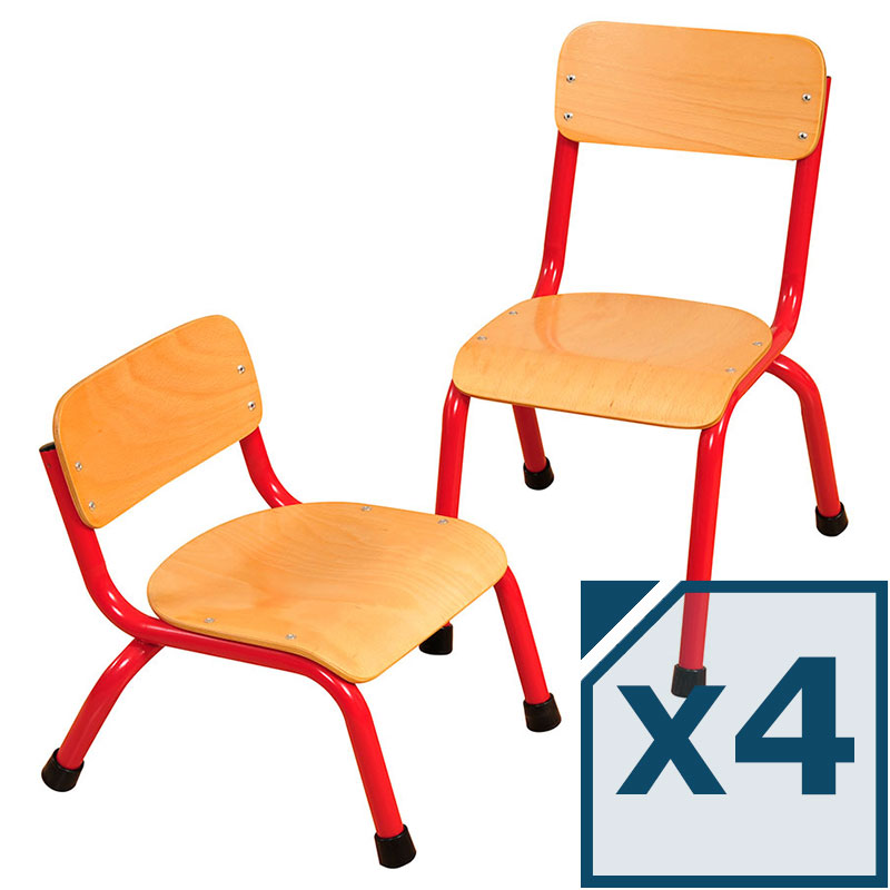 Milan Wood Seat Classroom Chair