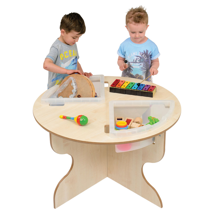 Pre-School Round Table + Trays