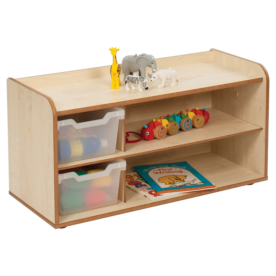 Solway Primary Cubby 2 Tray Unit + Shelves