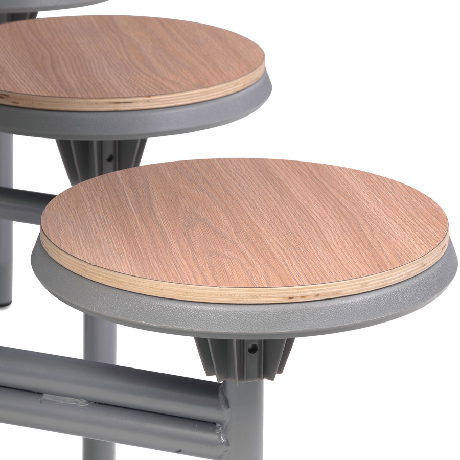 8 Seat Primo Round Mobile Folding Table - Stools