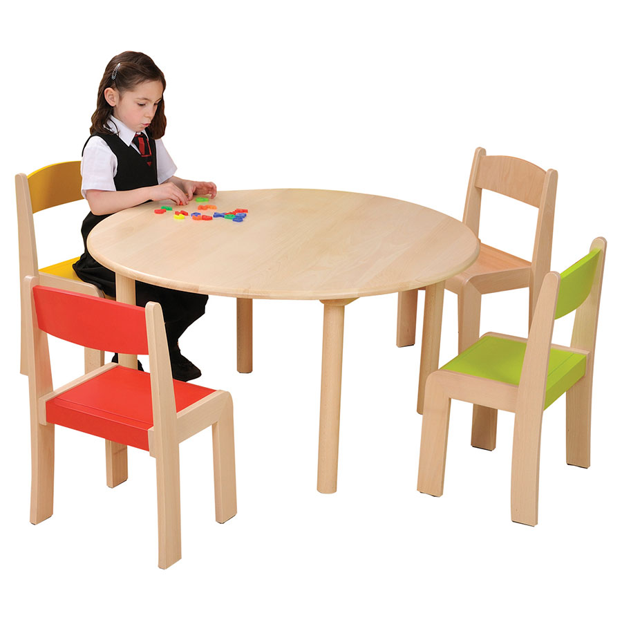 Solid Beechwood Round Table