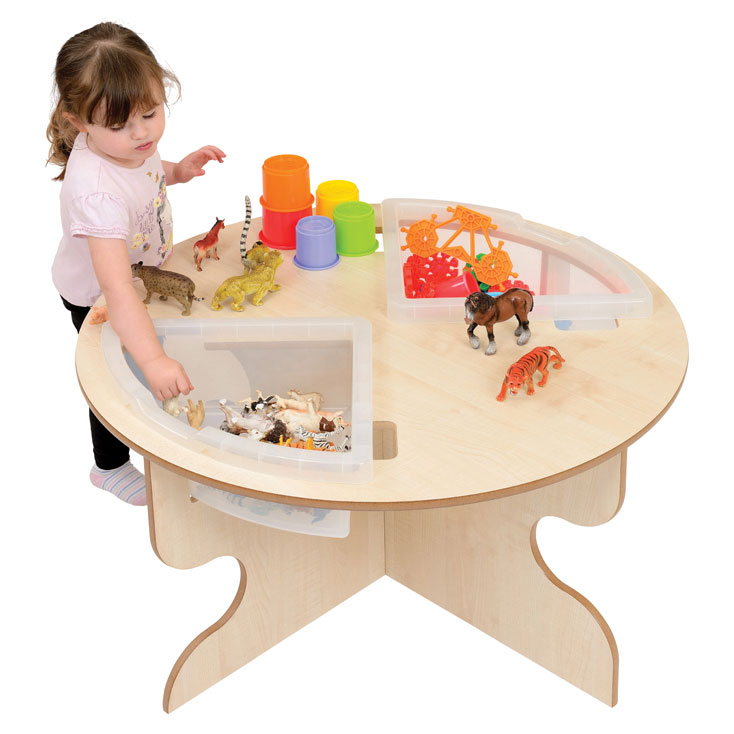Toddler Round Table + Trays