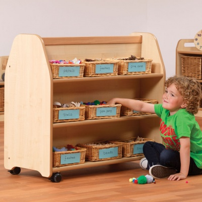 Mobile Double-Sided Library Trolley