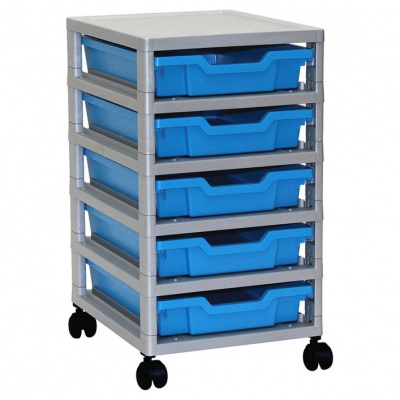 Mobile Single GratStack® - 5 Shallow Trays