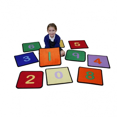 Number Squares Placemat Rugs