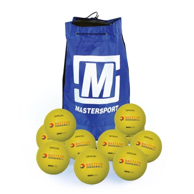 Official British SAFABALL® Softouch Dodgeball 200mm - Sack Of 10