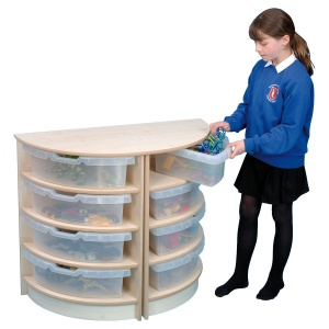 Primary 4 High Semi-Circle Unit + Trays