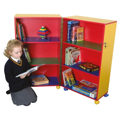 Primary Colours Mobile Fold-Away Bookcase