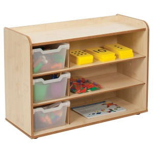 Solway Primary Cubby 3 Tray Unit + Shelves