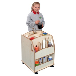 Small Wooden Arts Storage Trolley