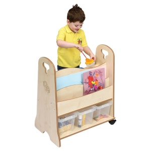 ''Toddle'' Wooden Arts Storage Trolley
