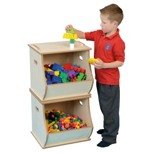 Wooden Stackable Storage Box - Single