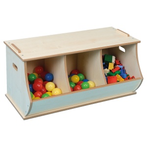 Wooden Stackable Storage Box - Triple