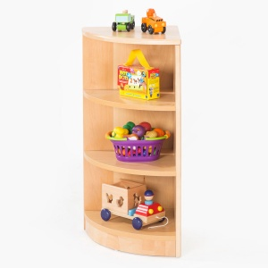 Zona Children's Library - 3 Shelf Corner Storage