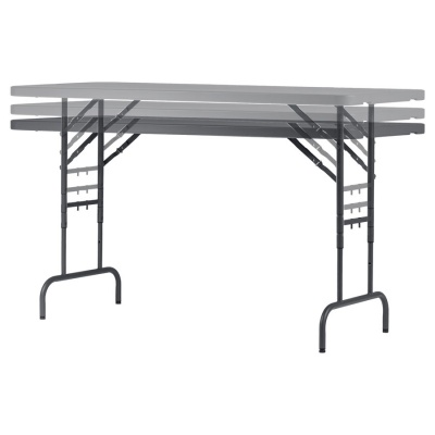 Zown Lightweight Height-Adjustable Folding Table